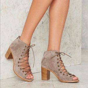Jeffrey Campbell Cors Bootie in Taupe Suede